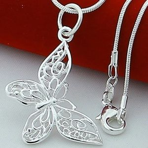 Sterling Silver Butterfly Necklaces Pendants